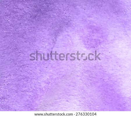 Violet Watercolor Hand Drawn Paper Grain Stock Vector