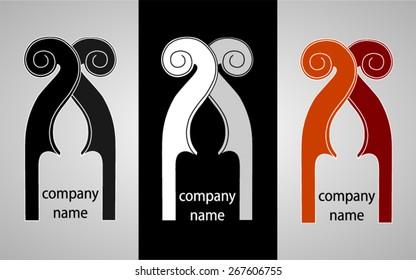 Violin / classical music - vector logo design