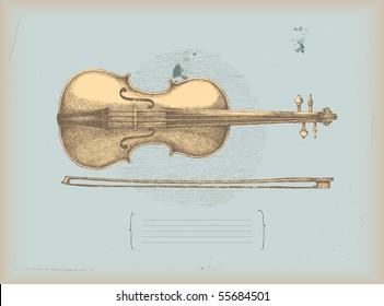 Violin drawing -music instrument