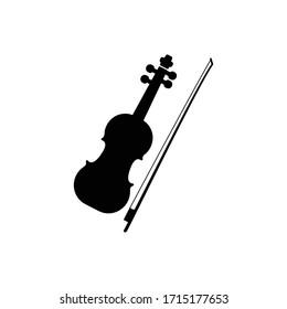 Violin icon. Design template vector