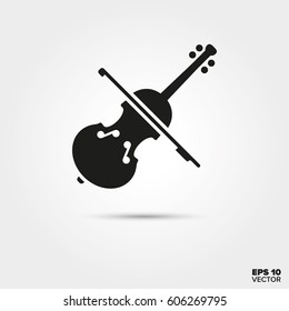 Violin icon. Musical instrument Symbol. EPS 10 Vector.