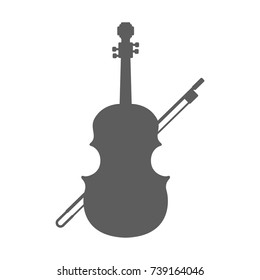 Violin icon in trendy flat style isolated on white background. Symbol for your web site design, logo, app, UI. Vector illustration, EPS