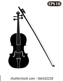 Violin isolated on white background vector illustration