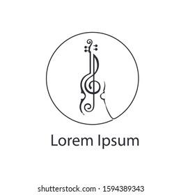 violin logo vector design template. violin symbol icon.