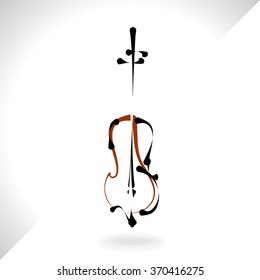 Violin musical instrument,vector