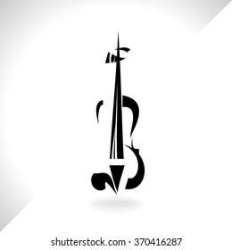 Violin musical instrument,vector