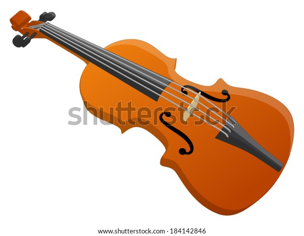 Violin -  Vector Artwork (isolated on white background).