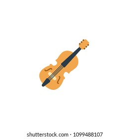 Violin vector flat icon