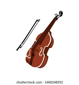 Violin vector icon. filled flat sign for mobile concept and web design. Cello musical instrument glyph icon. Symbol, logo illustration. Pixel perfect vector graphics