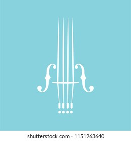 Violin vector illustration isolated on white background