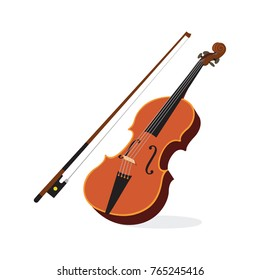 Violin. Vector illustration of a violin isolated on white.
