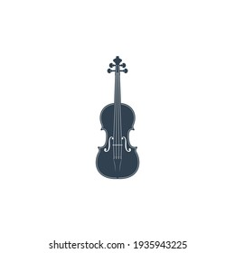 violin vector on white background