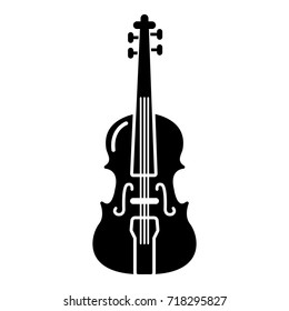 Violine icon . Simple illustration of violine vector icon for web design isolated on white background