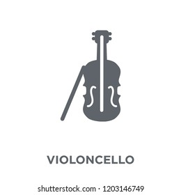 Violoncello icon. Violoncello design concept from Music collection. Simple element vector illustration on white background.