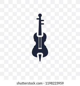 Violoncello transparent icon. Violoncello symbol design from Music collection. Simple element vector illustration on transparent background.