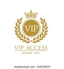 VIP access member logo template