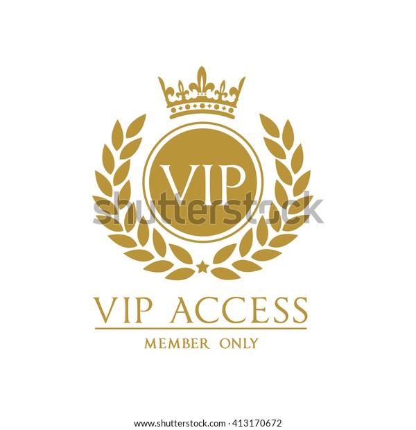 Vip Access Member Logo Template Stock Vector (Royalty Free) 413170672