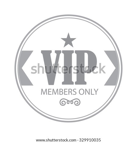 vip badge template vector illustration stock vector royalty free