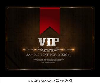 Vip card design-vintage-elegant-vip-casino-poker