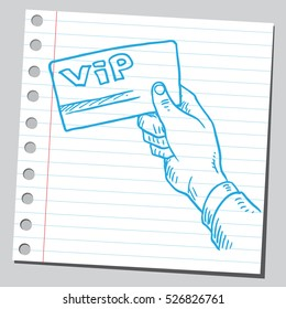 Vip card in hand