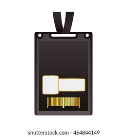 vip card pass exclusive ticket icon. Isolated and flat illustration. Vector graphic