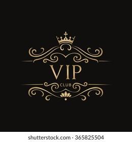 VIP Club Luxury Logo Template