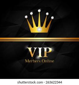 VIP design over white background, vector illustration.