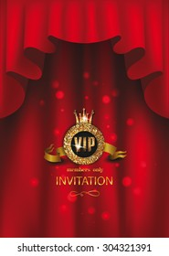 VIP elegant background with red curtains