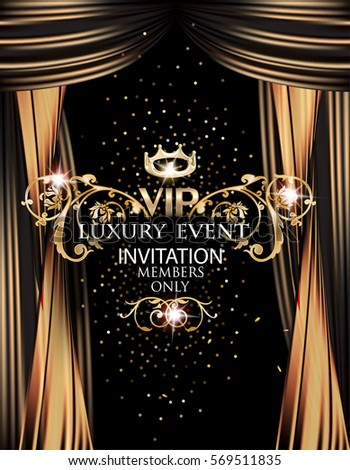 vip elegant luxury event invitation card stock vector royalty free