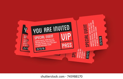 VIP Entry Pass Ticket Stub Design Template