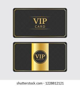 Vip Exclusive Member Card Vector Template