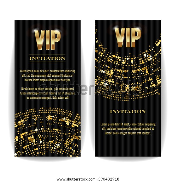 Vip Invitation Card Vector Party Premium Wektorowa
