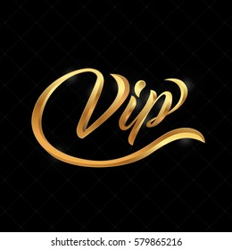 VIP logo abstract quilted background, diamonds and golden