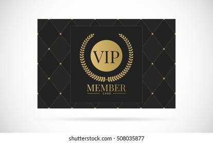 Vip member card vector design with text template illustration