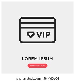 Vip member card vector icon, luxury gift card symbol. Modern, simple flat vector illustration for web site or mobile app