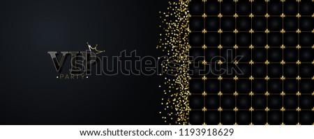 vip party invitation premium pattern golden stock vector royalty