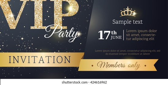 Christmas Party Invitation Template New Year Stock Vector Royalty