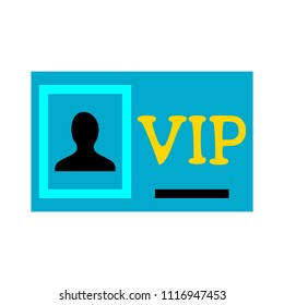 vip pass - vector card illustration, label symbol