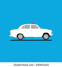 VIP Ride - White Ambassador Car Vector