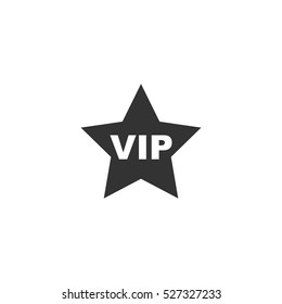 Vip star icon flat. Illustration isolated vector sign symbol