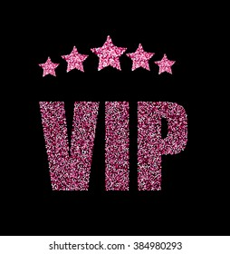 VIP status card with pink rank stars
