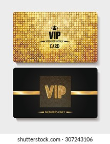 Vip textured gold cards