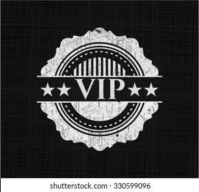 VIP written with chalkboard texture