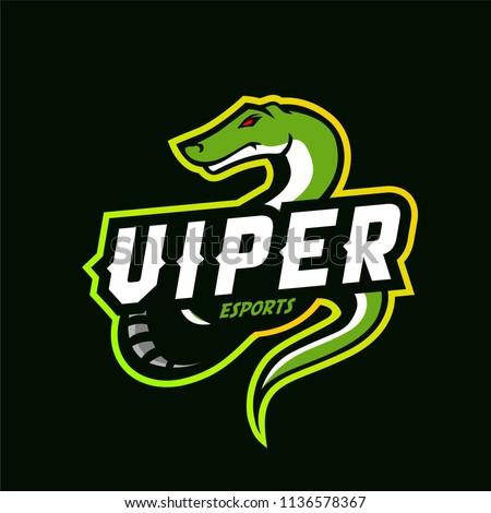 viper esport logo template stock vector royalty free 1136578367