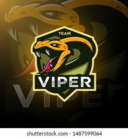Viper snake head esport logo gaming