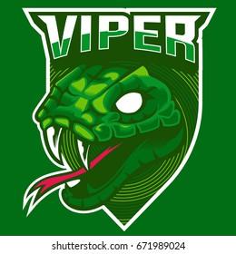 viper snake head mascot logo,e-sport logo, sticker print
