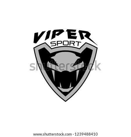 Viper Sport Badge Logo Design Stock Vector Royalty Free 1239488410