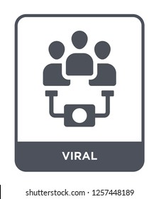 viral icon vector on white background, viral trendy filled icons from Marketing collection, viral simple element illustration