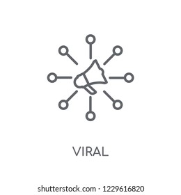 Viral linear icon. Modern outline Viral logo concept on white background from Marketing collection. Suitable for use on web apps, mobile apps and print media.