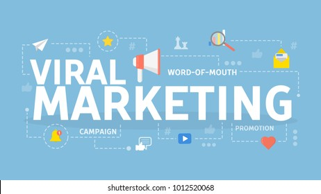 Viral marketing concept illustration. Idea of content, business and internet.